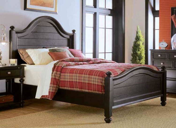 Camden Dark Panel Bed