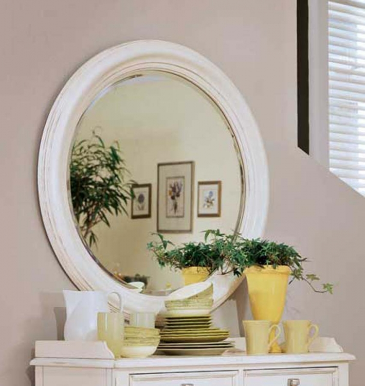 American Drew Camden Light Round Mirror