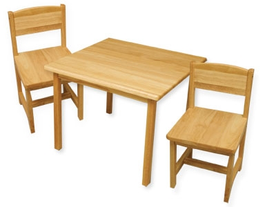 Aspen Table & 2 Chairs - Natural-KidKraft