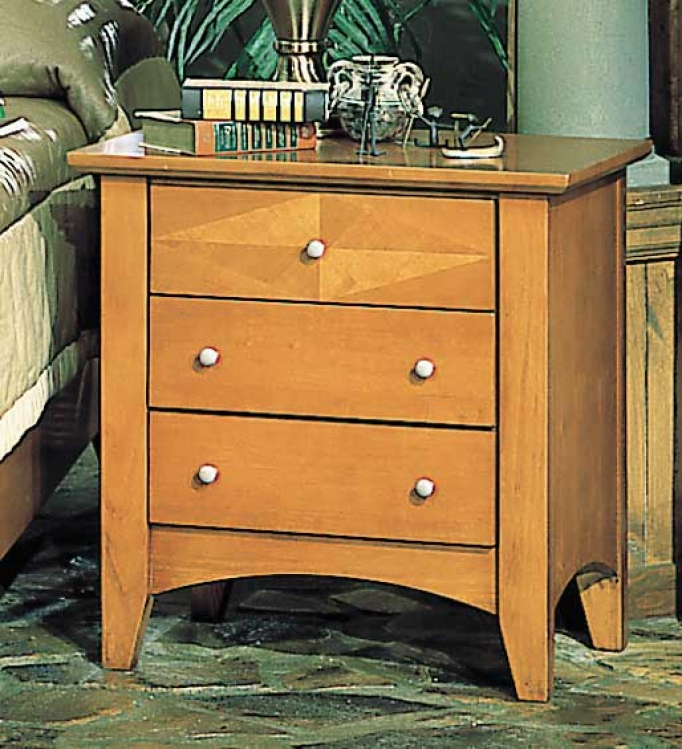 Vegas Night Stand with 3 Drawers