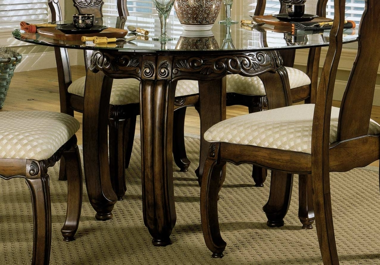 Tempo Dining Table with Bevel Glass