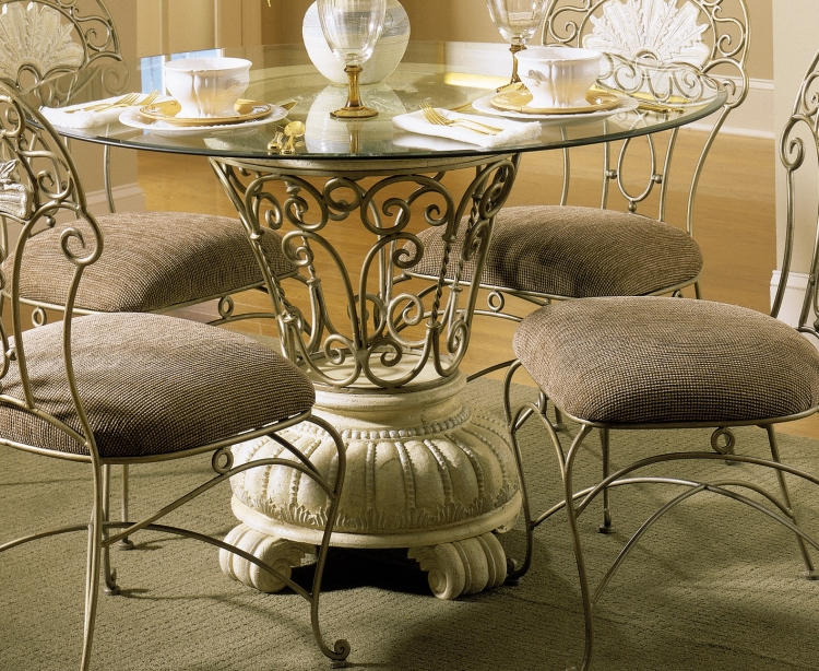 Cebu Dining Table with Bevel Glass