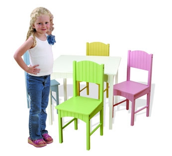 Nantucket Table & 4 Pastel Chairs-KidKraft