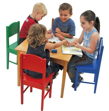 Nantucket Table & 4 Primary Chairs-KidKraft