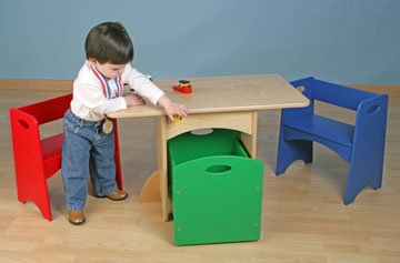 Table with Primary Benches-KidKraft