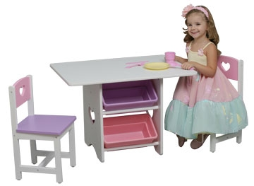 A Space of Her Own Heart Table and Chair Set-KidKraft