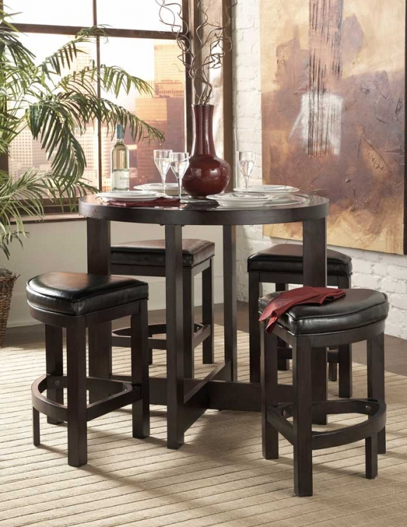 Brussel 5 Pc Pub Dining Set-Homelegance