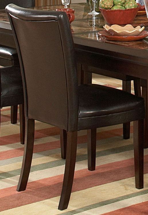 Belvedere Side Chair - Dark Brown - Homelegance