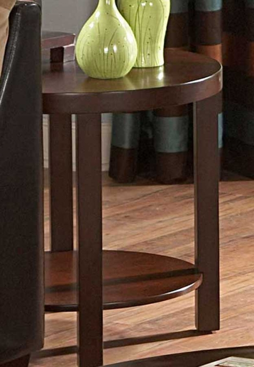 Brussel II Round End Table - Homelegance