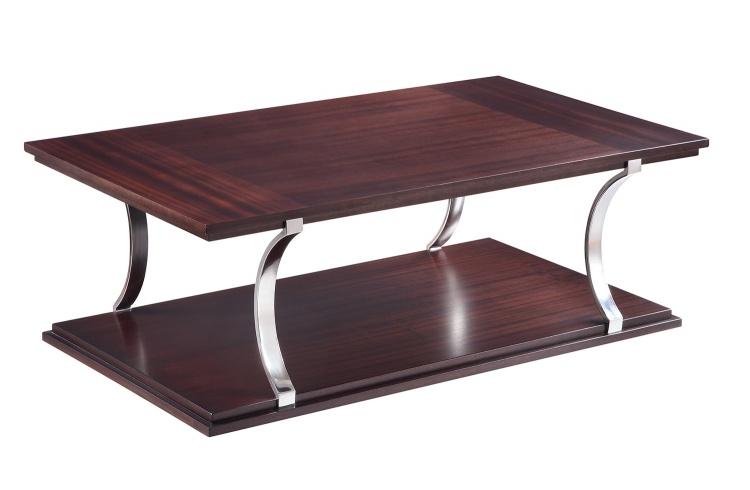 Bevan Cocktail Table - Dark Cherry