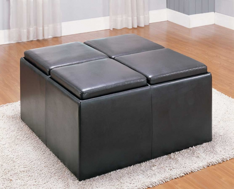 Claire Storage Cocktail Ottoman - Homelegance