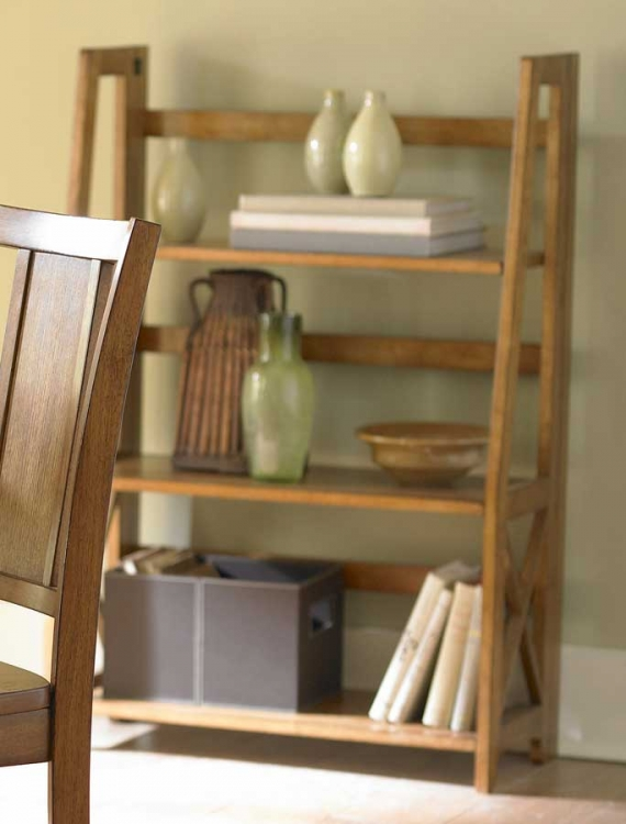 Britanica Folding Bookcase in Oak