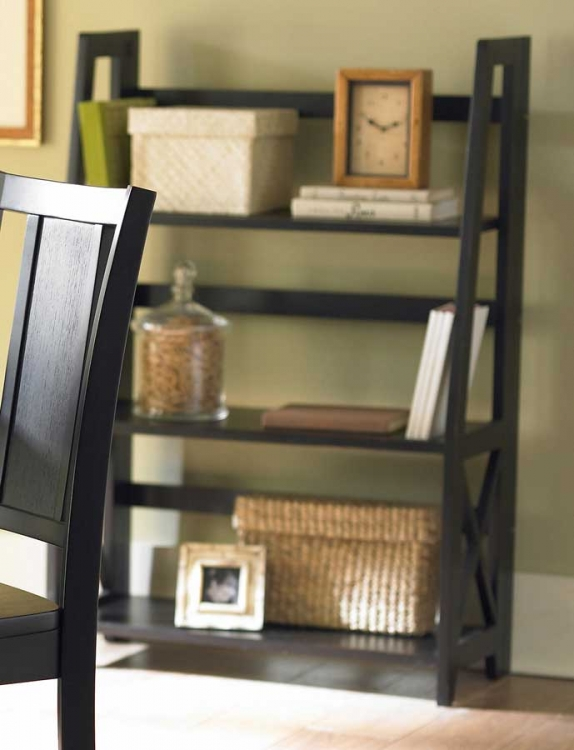 Britanica Folding Bookcase in Black-Homelegance