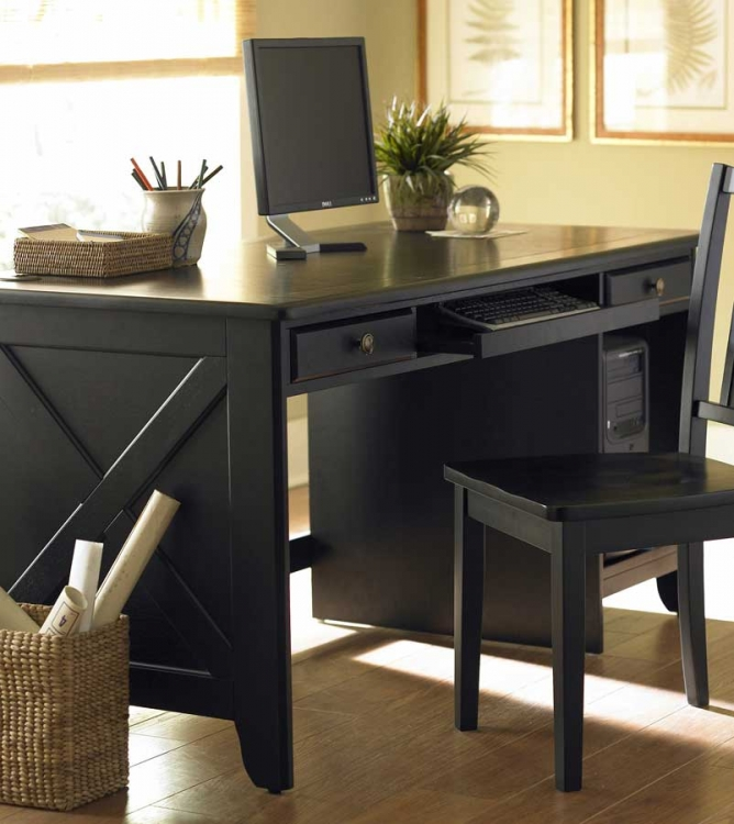 Britanica Writing Desk KD in Black-Homelegance