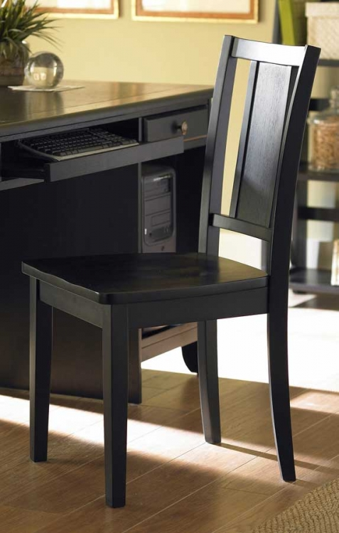 Britanica Side Chair in Black-Homelegance