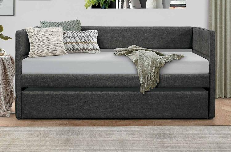 Vining Daybed with Trundle - Dark Gray