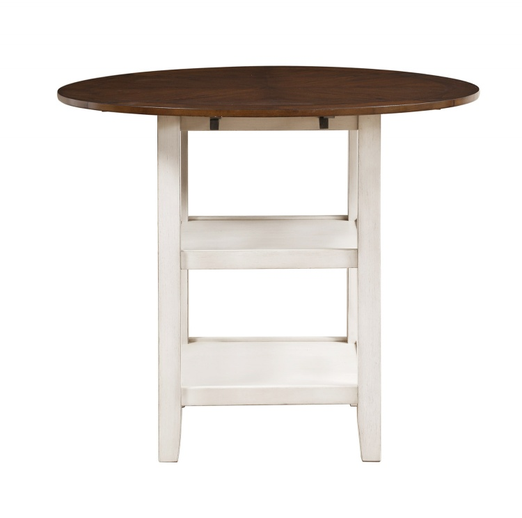 Kiwi Counter Height Drop Leaf Table - White Wash - Dark Cherry