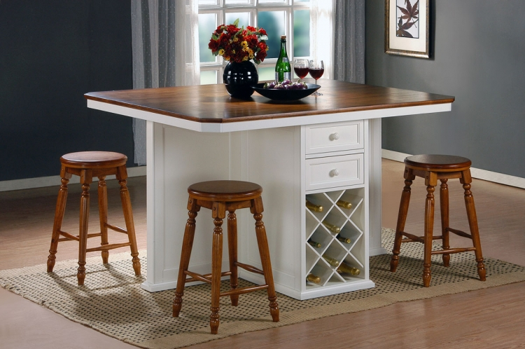 Vineyard Kitchen Island White Cherry