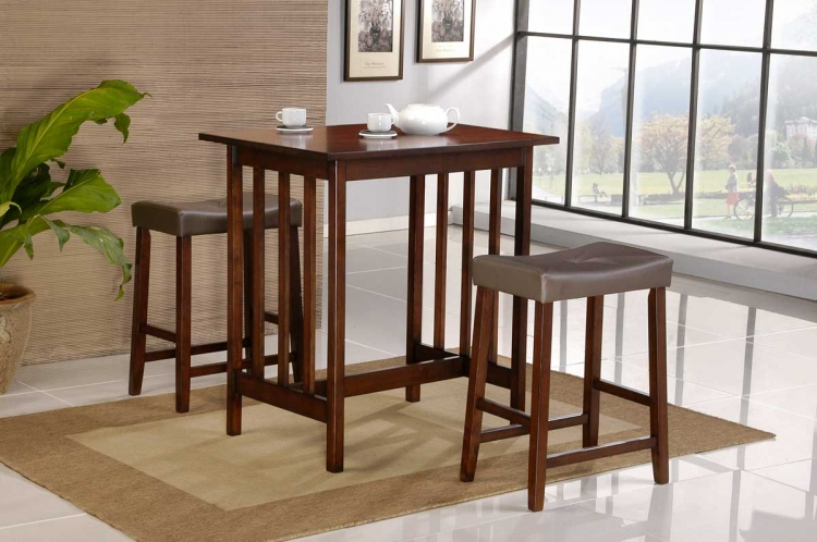 Scottsdale 3 Pc Dinette Set in Cherry Finish-Homelegance