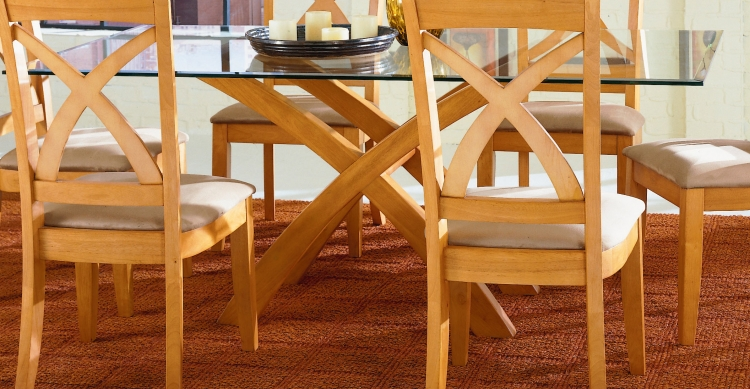 Star Hill Rectangular Glass Table