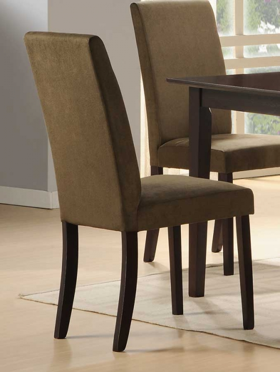 Weitzmenn Side Chair in Olive Microfiber