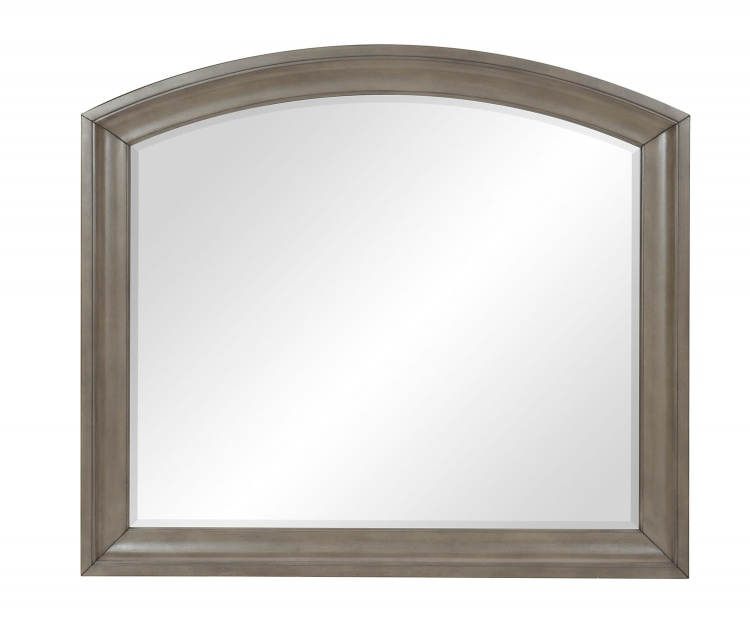 Vermillion Mirror - Bisque Finish with Oak Veneer