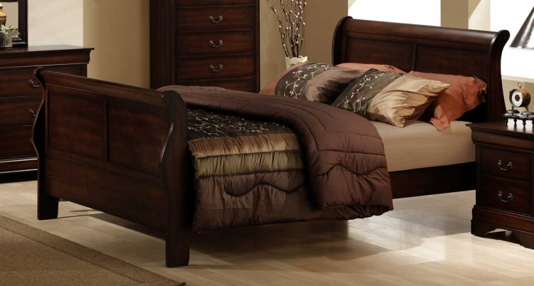 Chateau Brown Bed - Homelegance