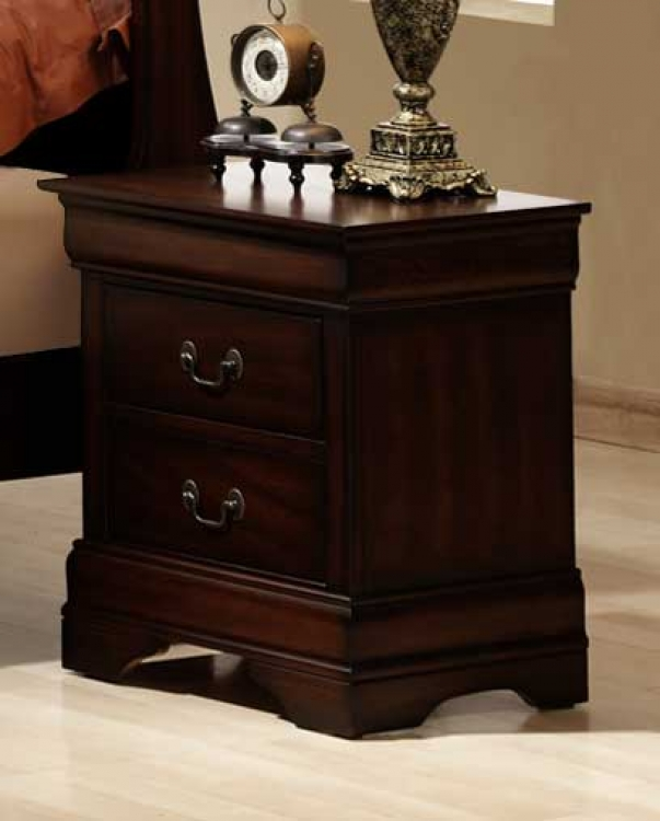 Chateau Brown Night Stand - Homelegance