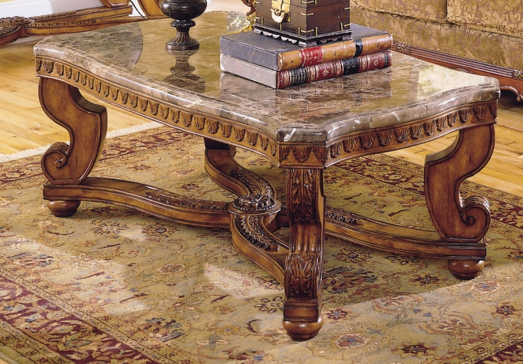 Tarantula Cocktail Table Marble Top