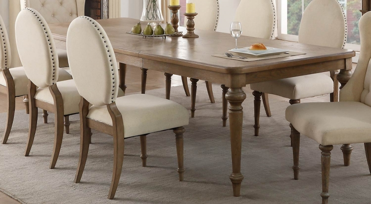 Avignon Dining Table - Natural Taupe - Oak veneer