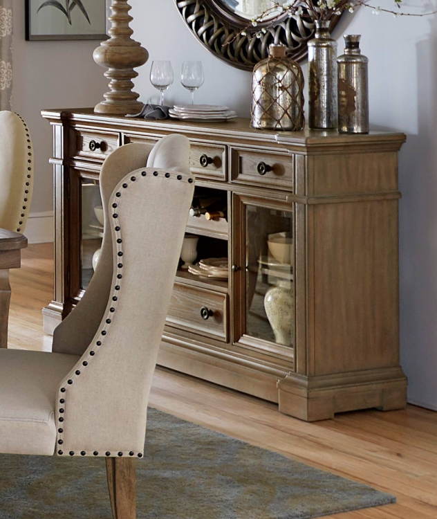 Avignon Server With Glass Door - Natural Taupe