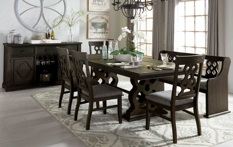 Arasina Dining Set - Dark Pewter