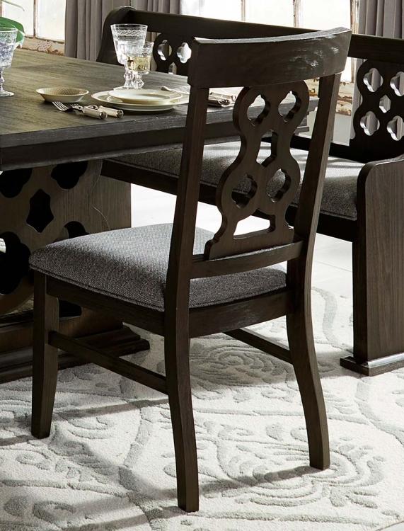 Arasina Side Chair - Dark Pewter