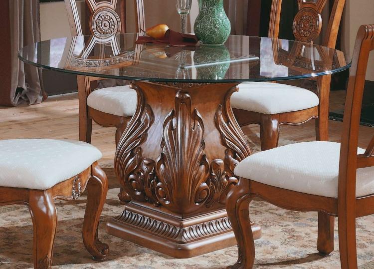 Marseille Round Glass Table