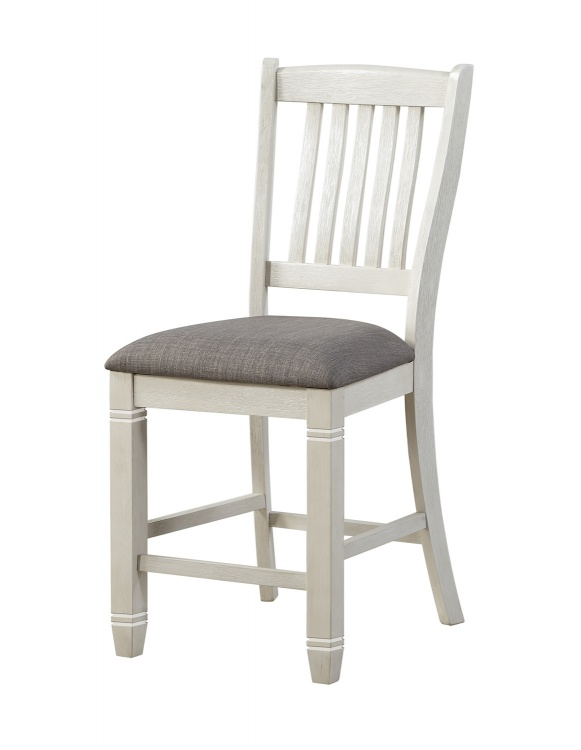 Granby Counter Height Chair - Antique White - Rosy Brown
