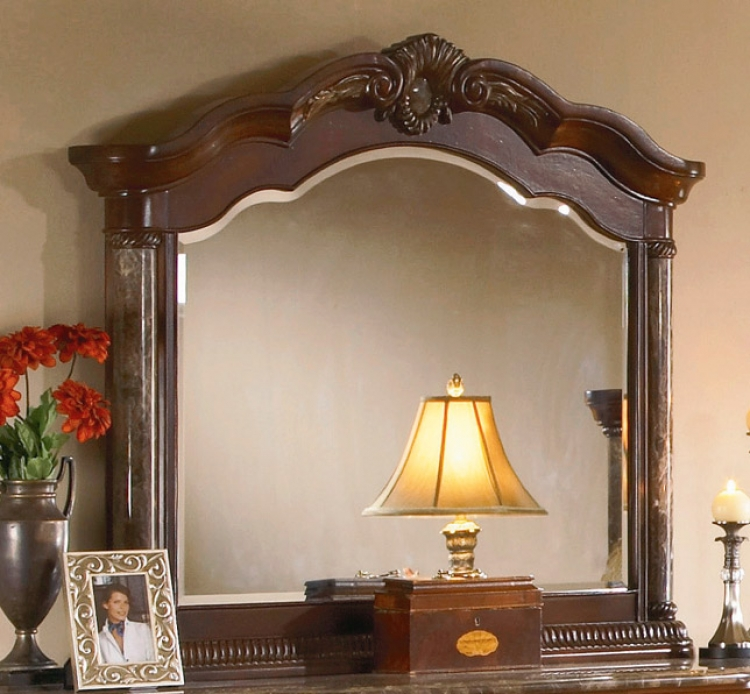 Catalina Mirror Marble Pilaster