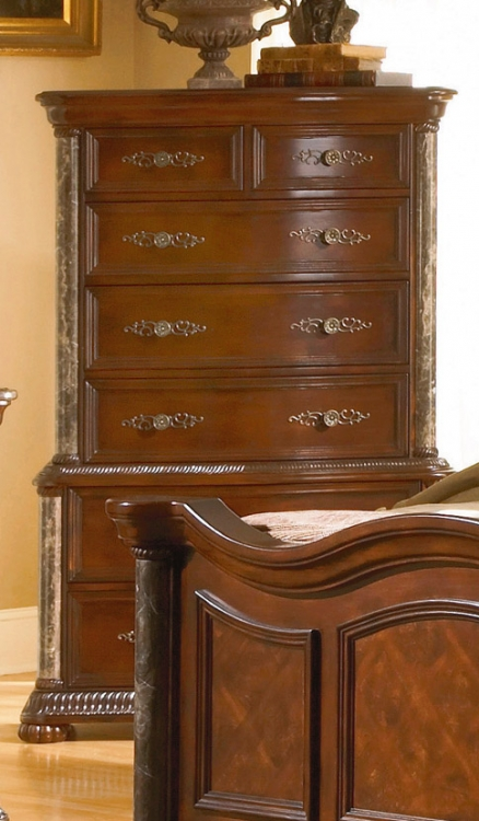 Catalina Chest Marble Pilaster