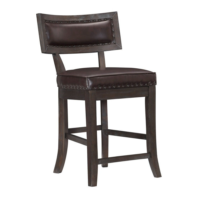 Oxton Counter Height Chair - Rustic Brown
