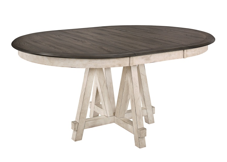 Clover Round/Oval Dining Table - Rustic Gray