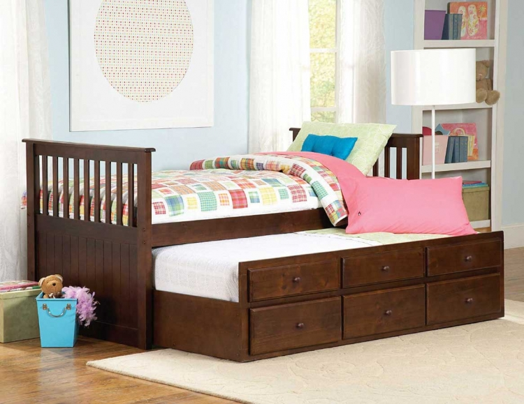 Zachary Twin-Twin Trundle Bed - Homelegance