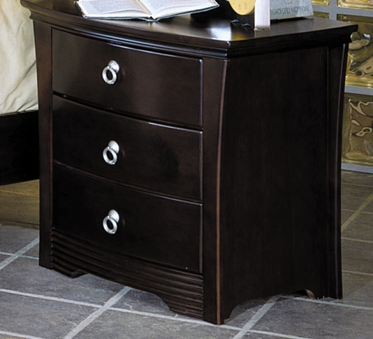 Syracuse 3 Drawer with Shaped Front Night Stand-Homelegance