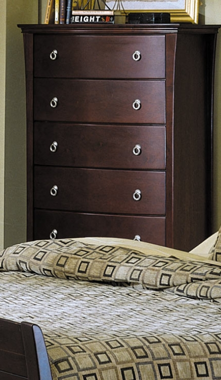 Syracuse 5 Drawer with Shaped Front Chest