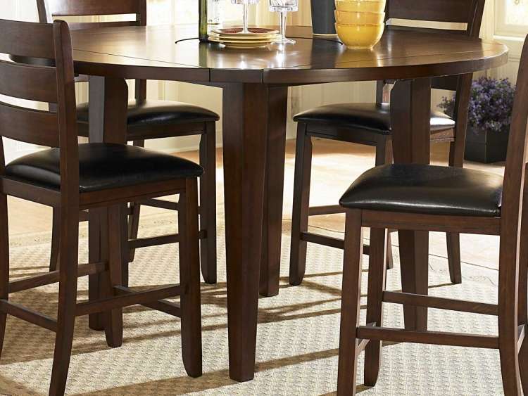 Ameillia Round Counter Height Drop Leaf Table - Homelegance