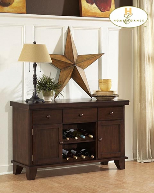 Ameillia Server with Two Wine Racks - Homelegance