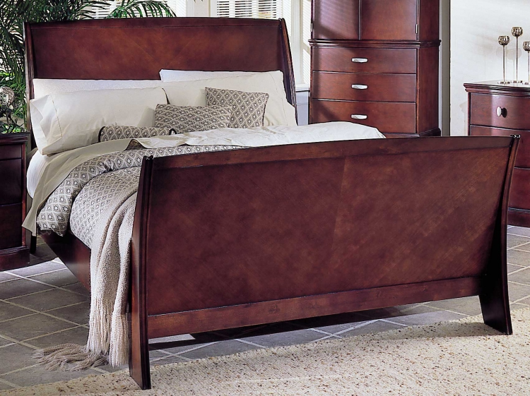 5th Avenue Bed with Wood Rails