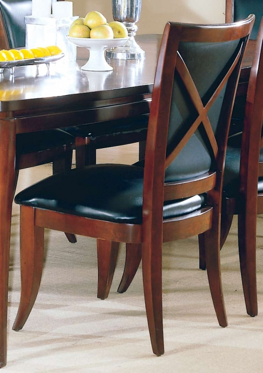 5th Avenue Leather Side Chair