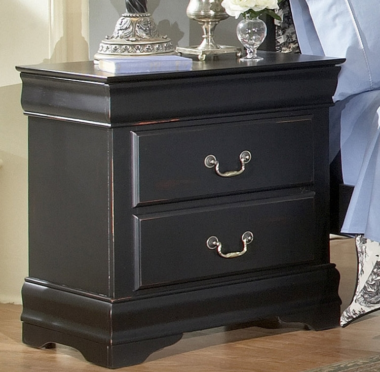Bastille Night Stand in Black-Homelegance