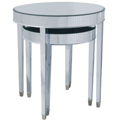 Cinema Round Tables - Pair - Traditional Accents