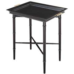 Piccadilly Tray Table - Ebony - Traditional Accents