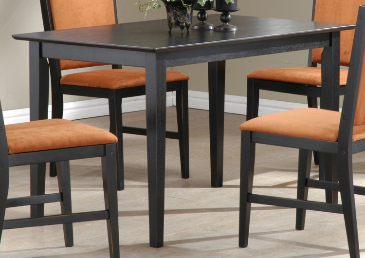 Milano Dining Table Black-Sand-Through